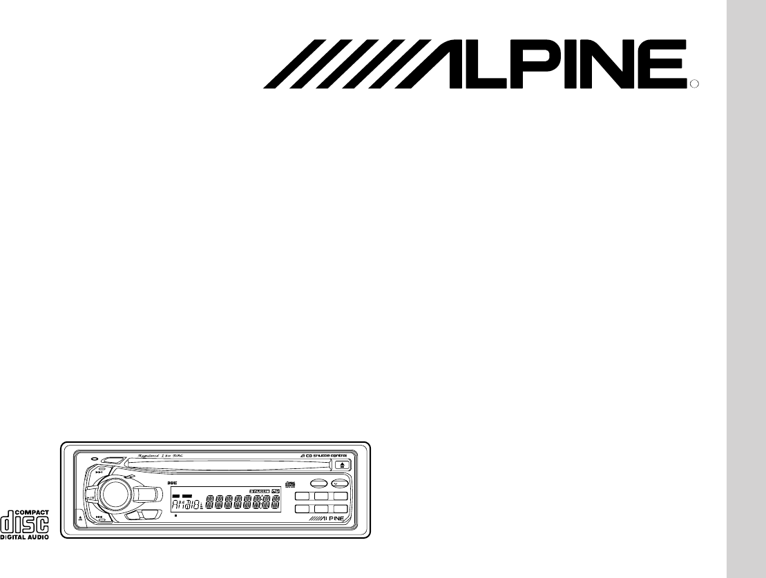 Alpine Car Stereo System CDA-7838 User Guide