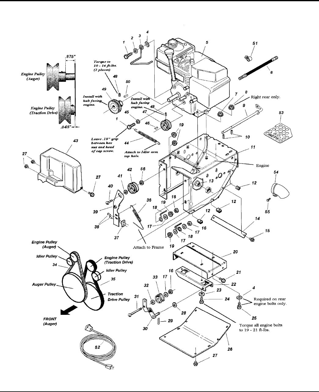 Page 12 of Simplicity Snow Blower 860M User Guide