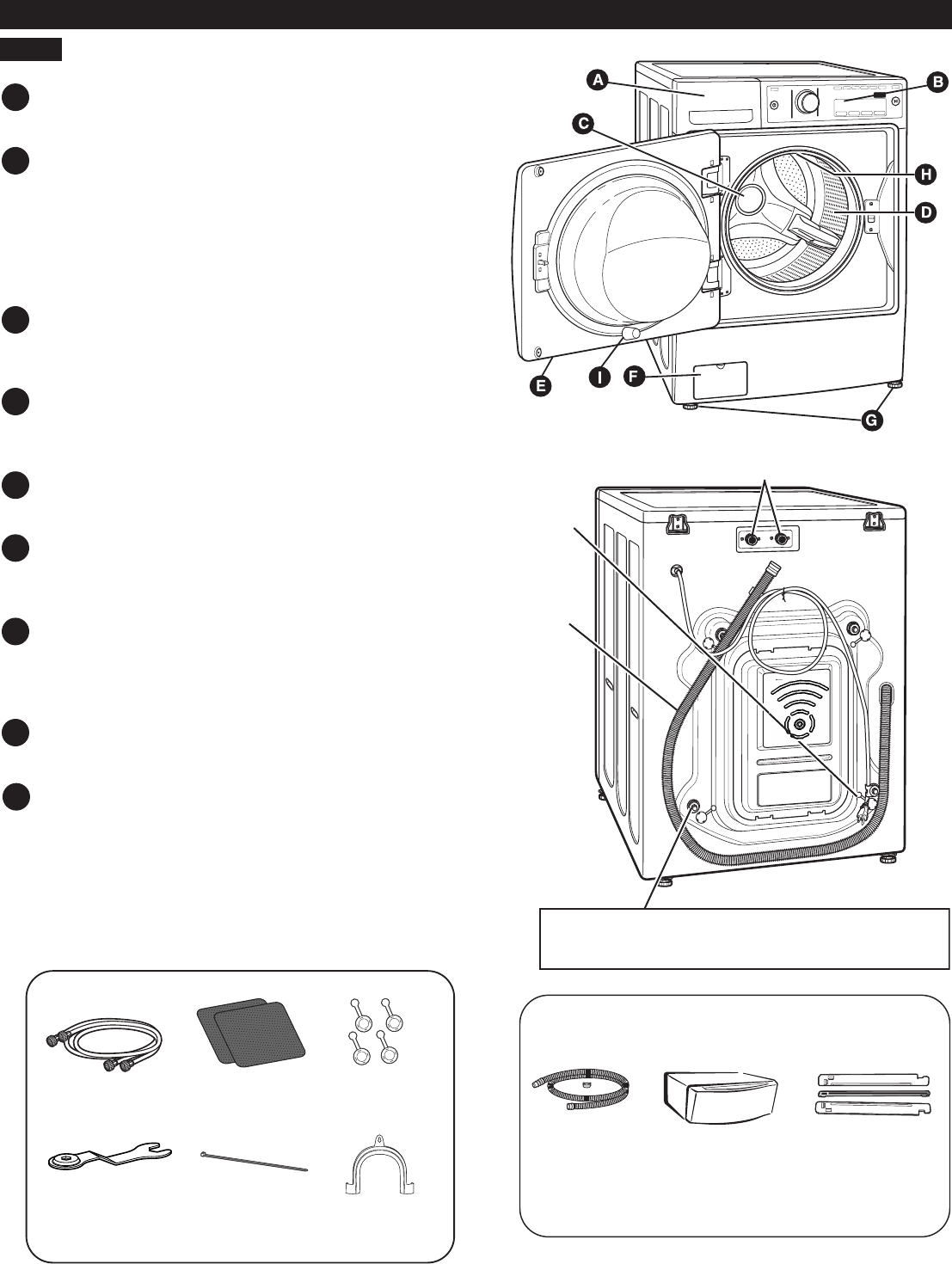 Page 6 of Kenmore Washer 796.4172# User Guide