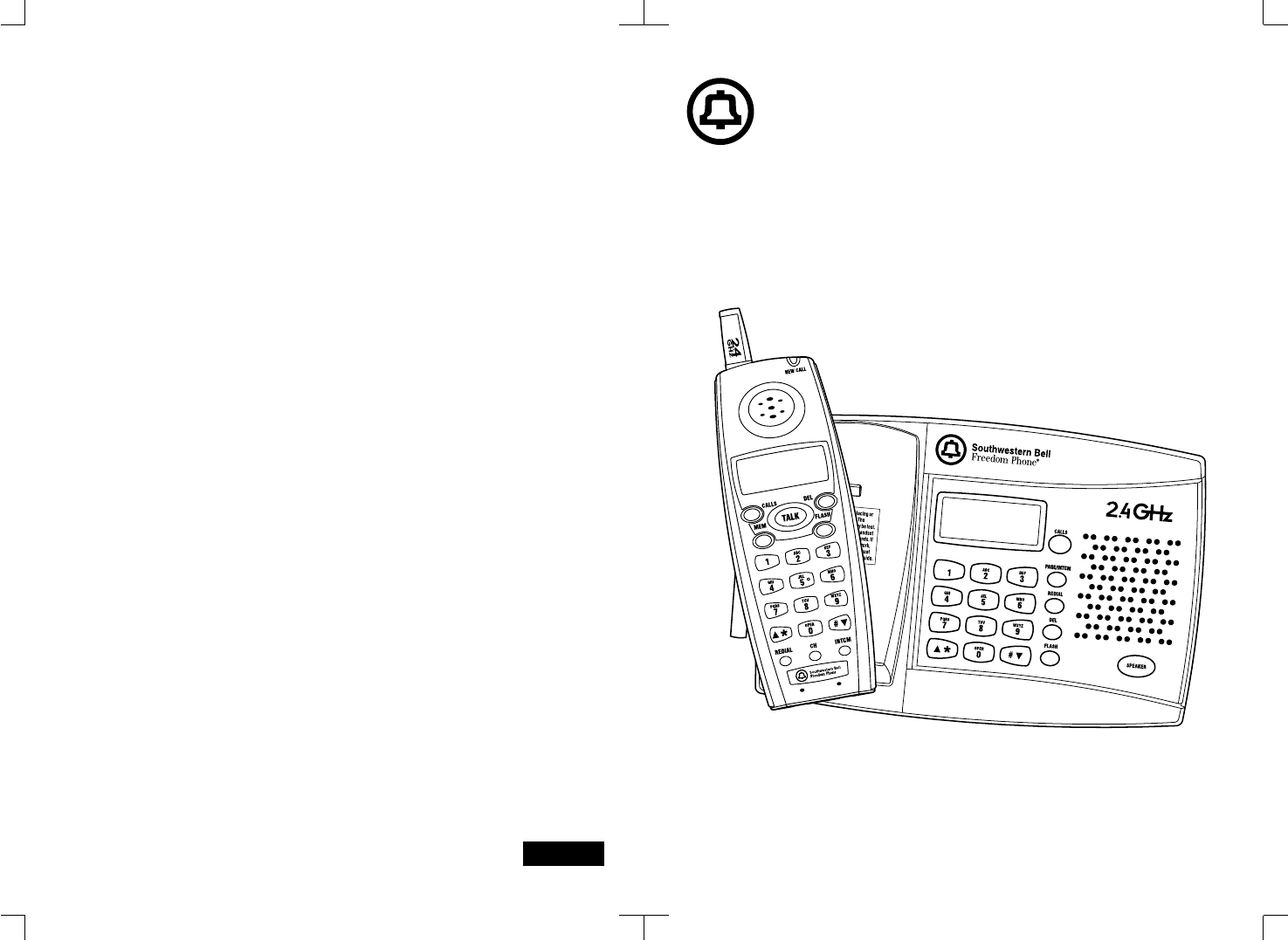 Southwestern Bell Cordless Telephone GH3028AT User Guide