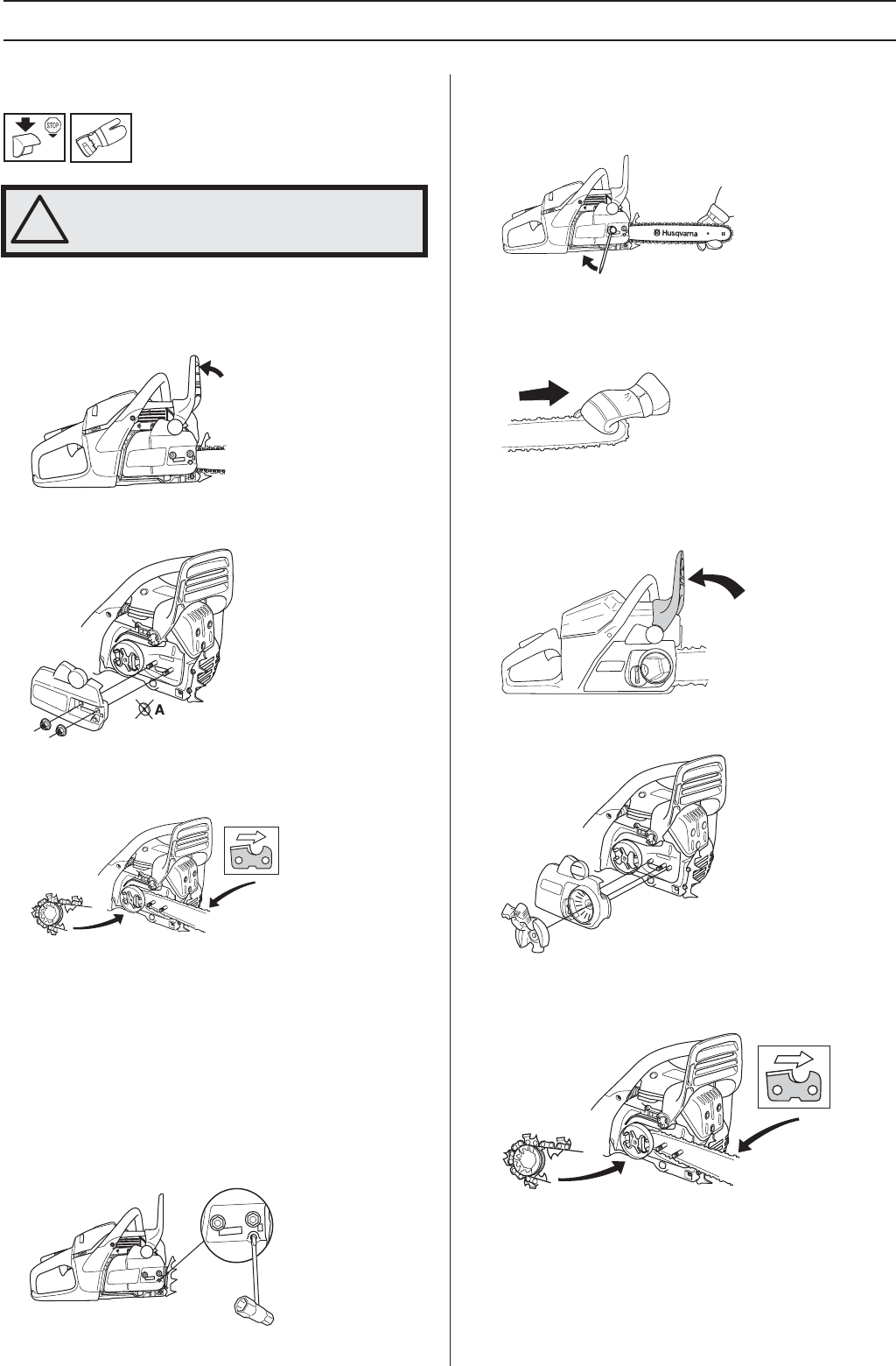 Page 17 of Husqvarna Chainsaw 455e, 455, 460 User Guide