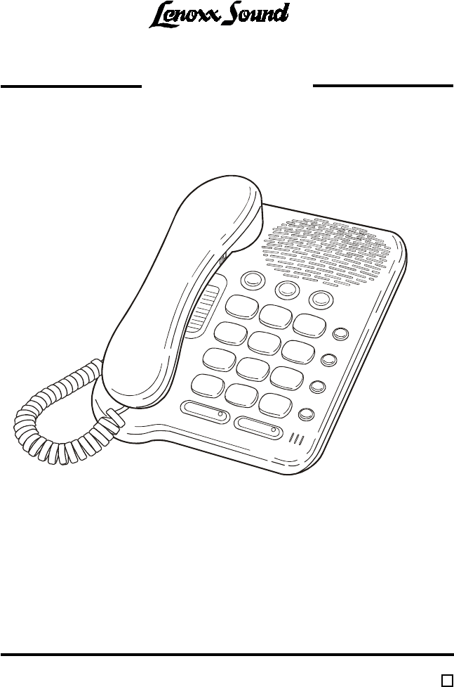 Lenoxx Electronics Conference Phone PH-319 User Guide