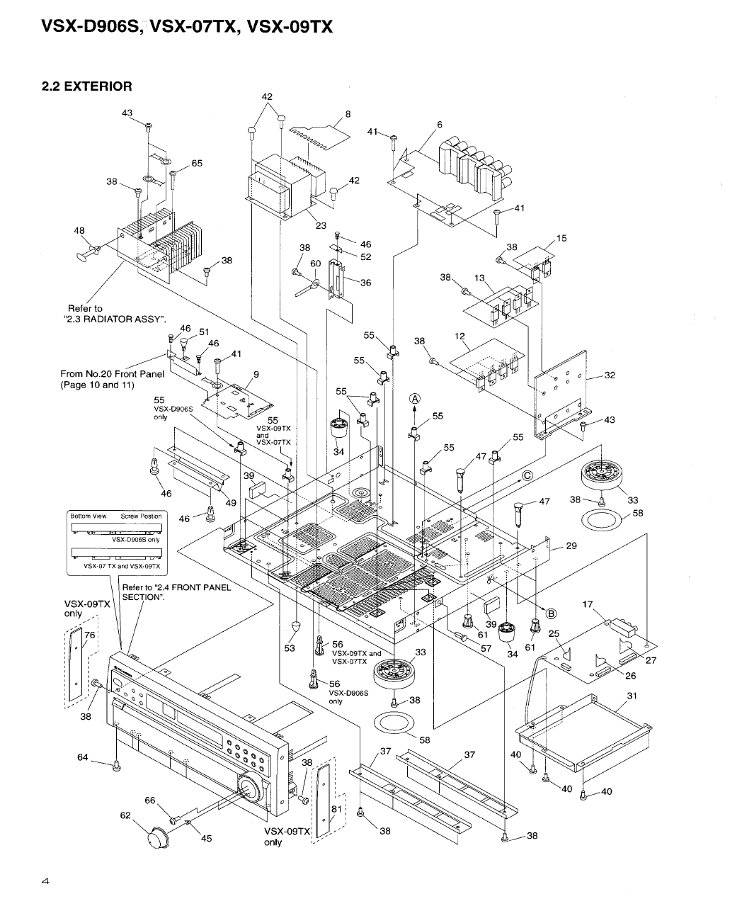 Page 4 of Pioneer Stereo System VSX-D906S User Guide