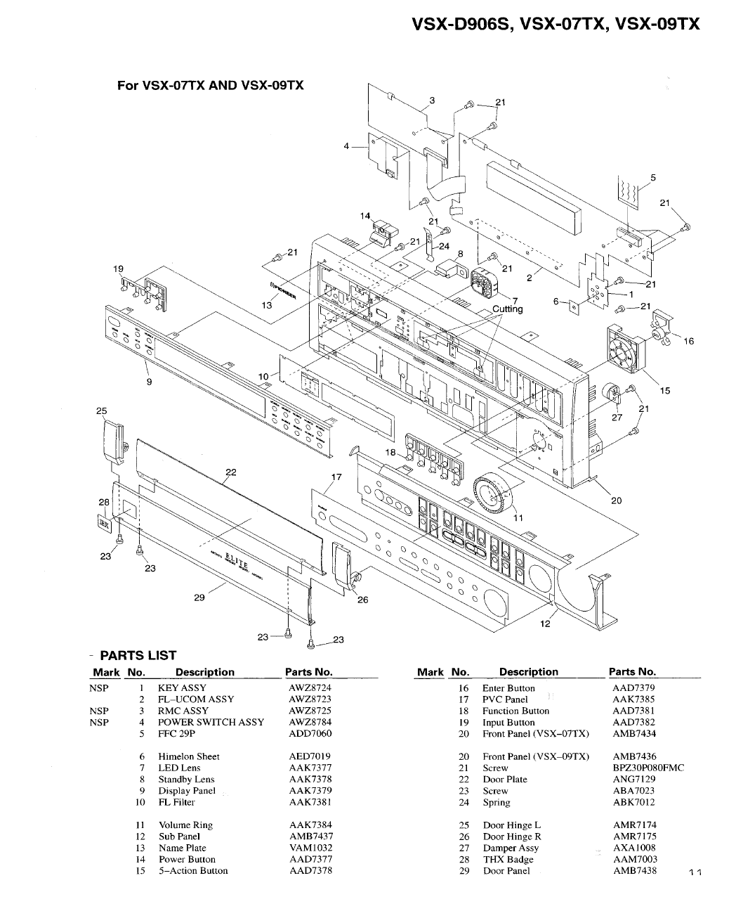 Page 11 of Pioneer Stereo System VSX-D906S User Guide