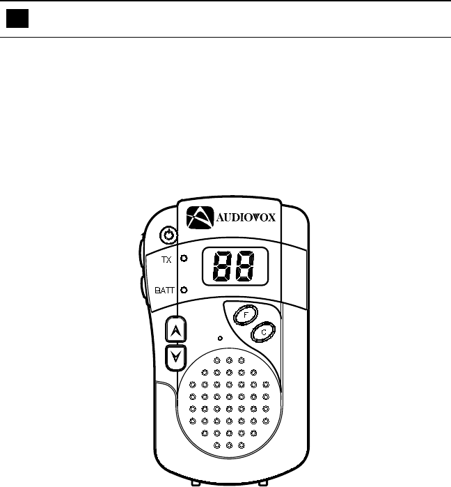 Page 3 of Audiovox Two-Way Radio FR-230 User Guide