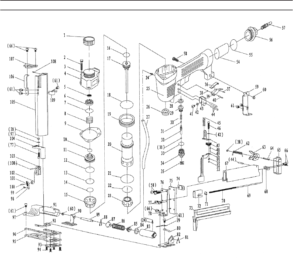 Page 17 of Central Pneumatic Air Compressor Staple Gun