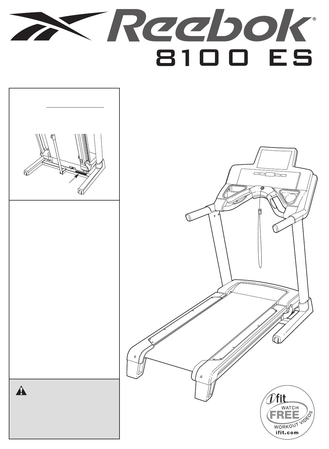 Reebok Fitness Treadmill RBTL79607.1 User Guide