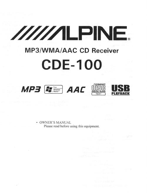 small resolution of alpine car speaker cde 100 user guide manualsonline com next