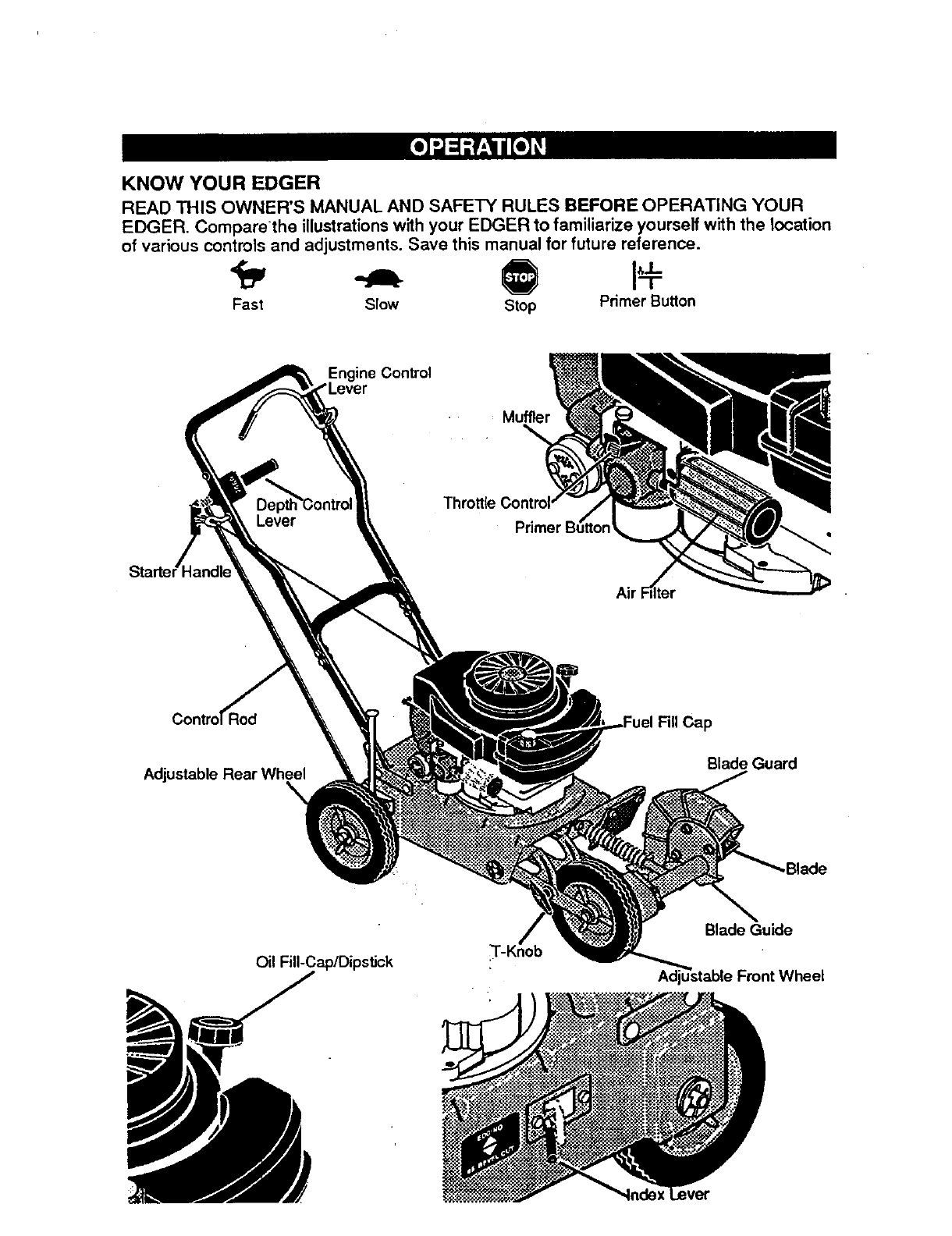 Page 6 of Craftsman Edger 536.7974 User Guide