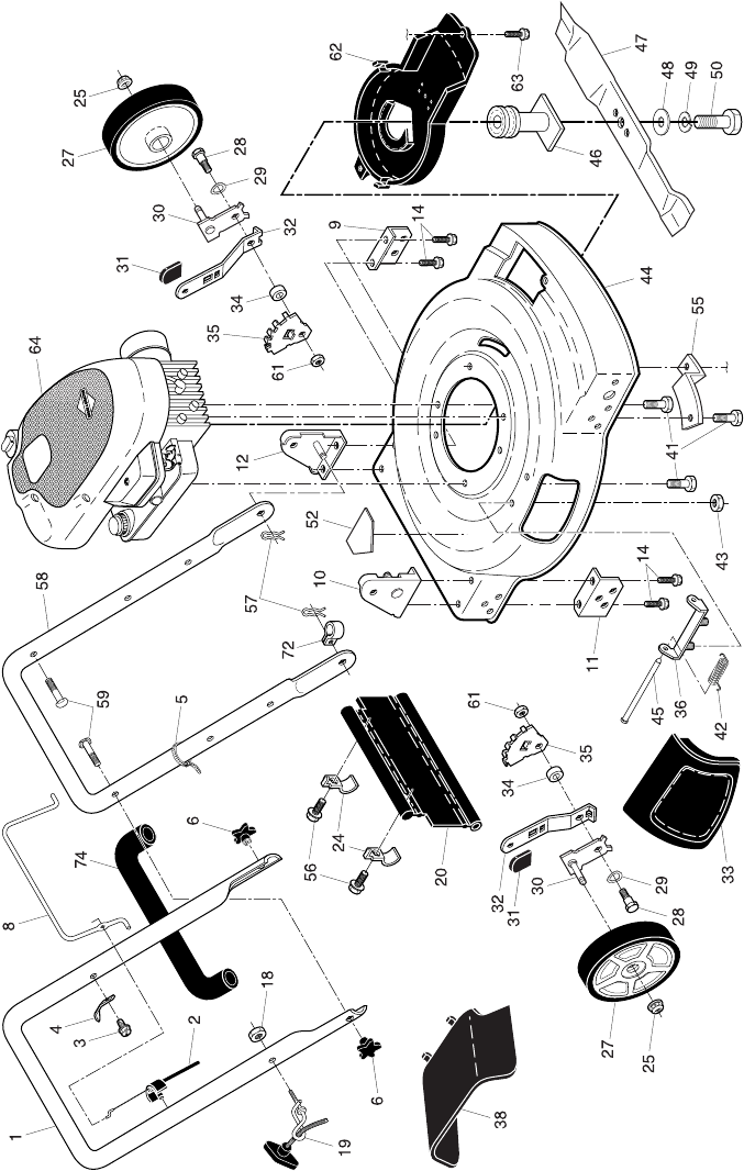 Page 2 of Poulan Lawn Mower 96124000200 User Guide