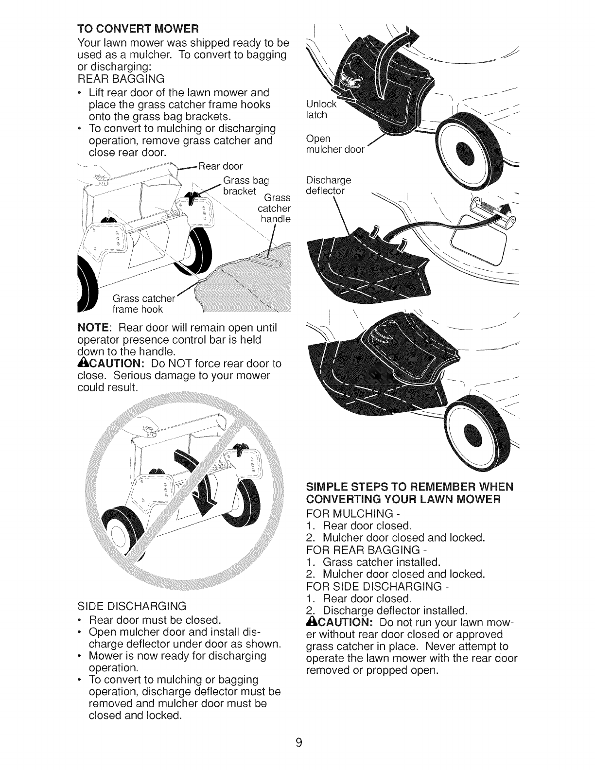 Page 9 of Craftsman Lawn Mower Gcv160 User Guide