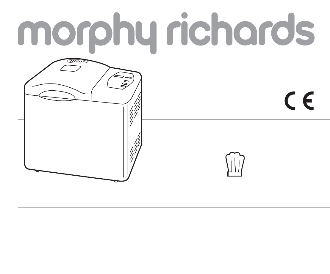 Morphy Richards Bread Maker 48220 User Guide