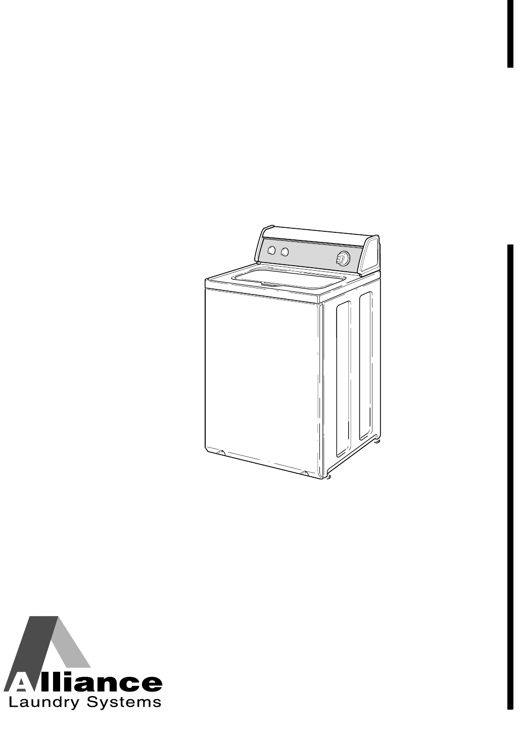 Alliance Laundry Systems Washer W001C User Guide