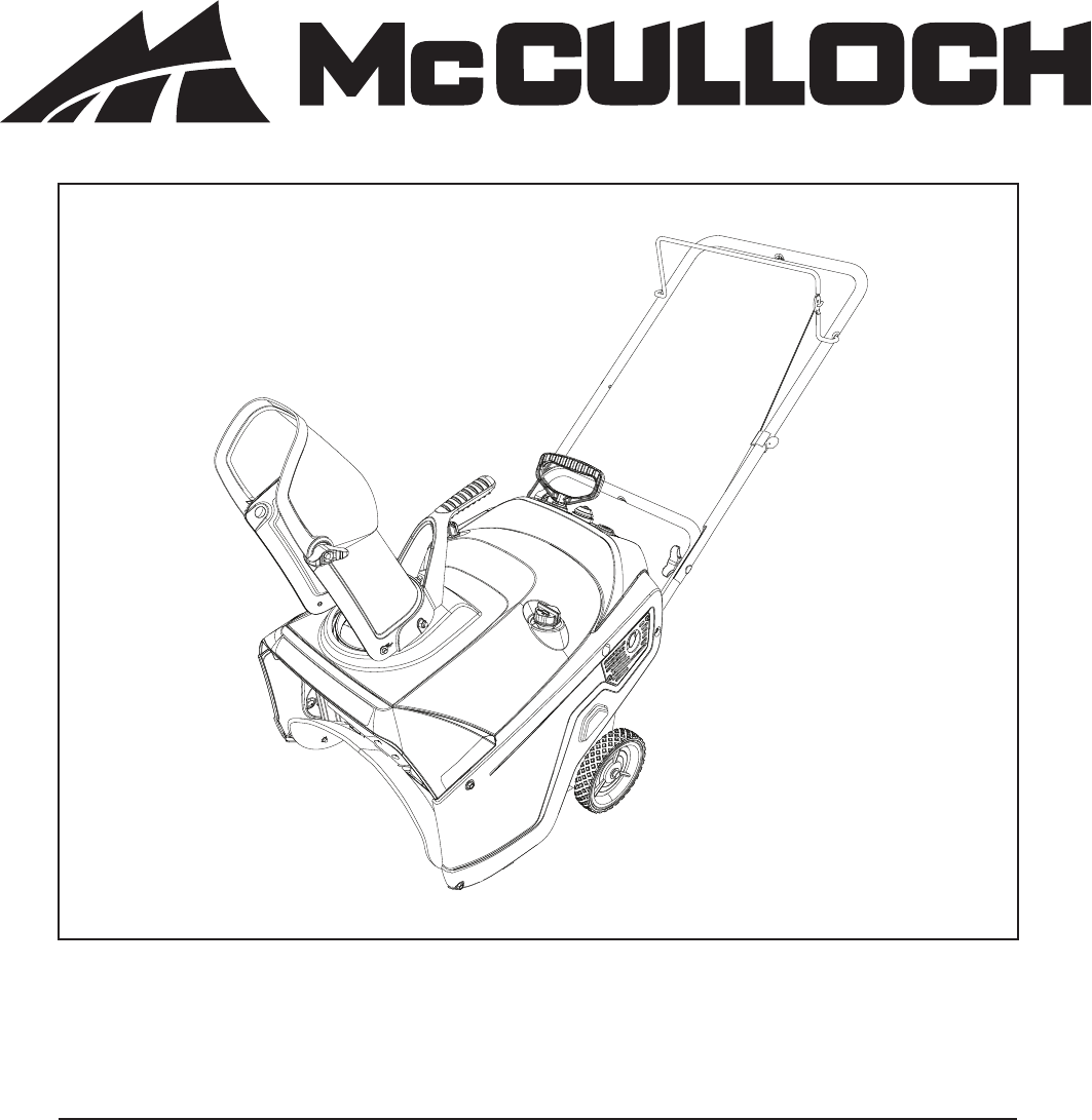 Mcculloch Super Airstream Iv Blower Vac Manual
