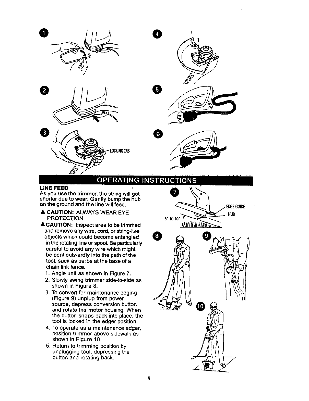 Page 5 of Craftsman Trimmer 900-74522 User Guide