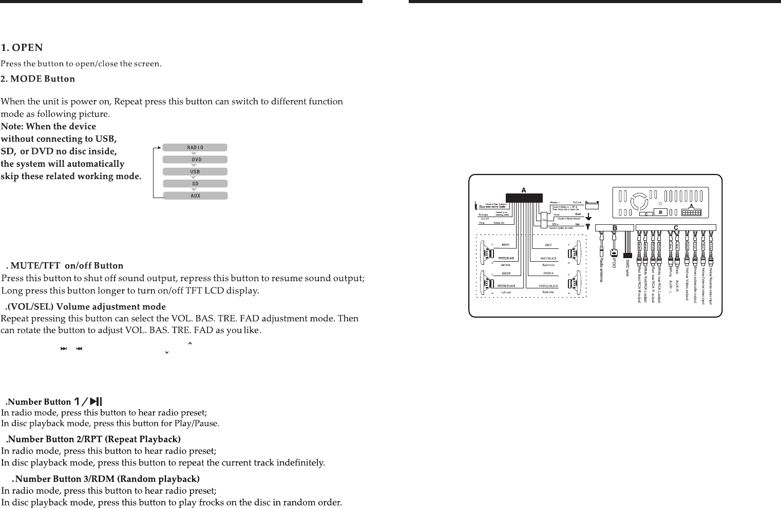 hight resolution of page 4 of boss audio systems stereo system bv9967b user guide boss audio wiring diagram radio