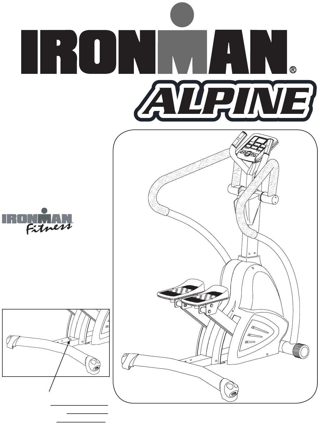 Ironman Fitness Stepper Machine Alpine User Guide