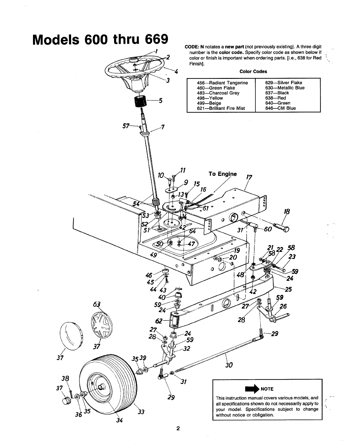 Page 2 of MTD Lawn Mower 600-669 User Guide