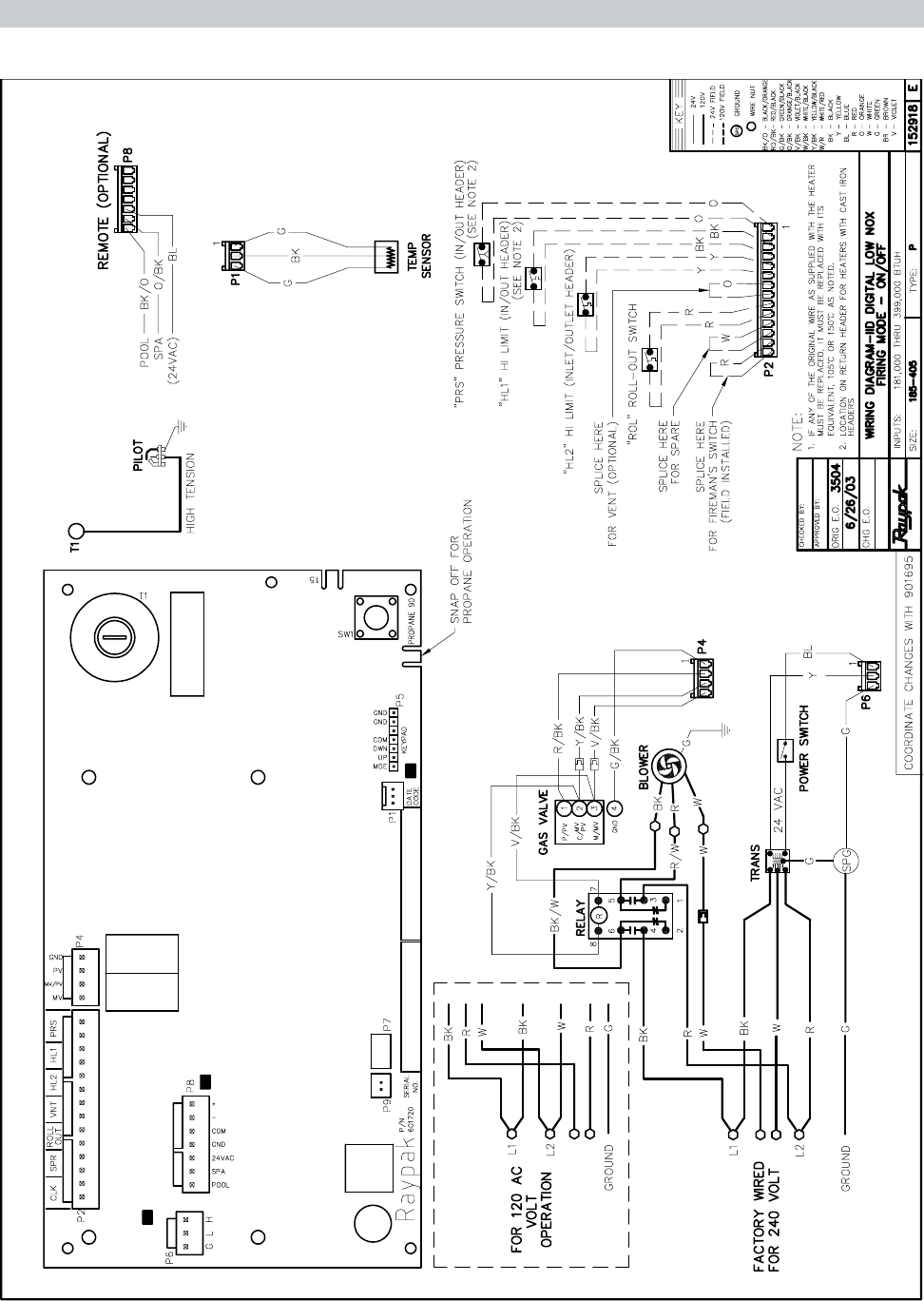 Page 28 of Raypak Swimming Pool Heater RP2100 User Guide