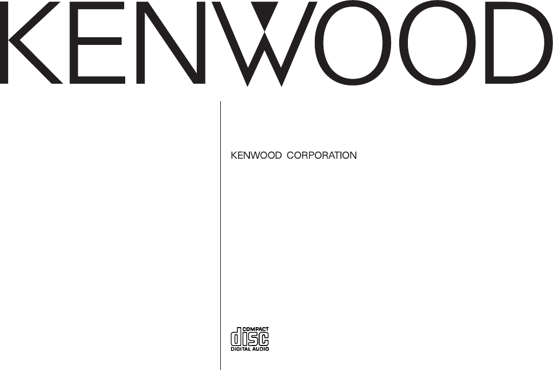 Kenwood Car Stereo System DPX-MP4050B User Guide