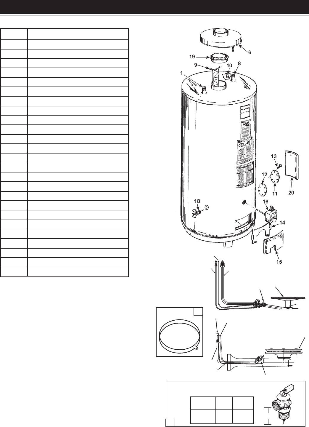 Reliance 606 Electric Water Heater Parts Diagram