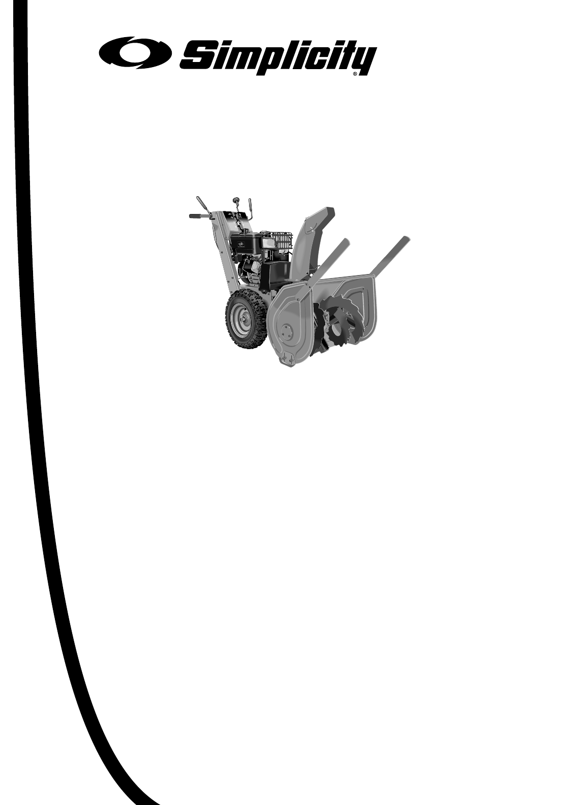 Page 3 of Simplicity Snow Blower 1170 User Guide