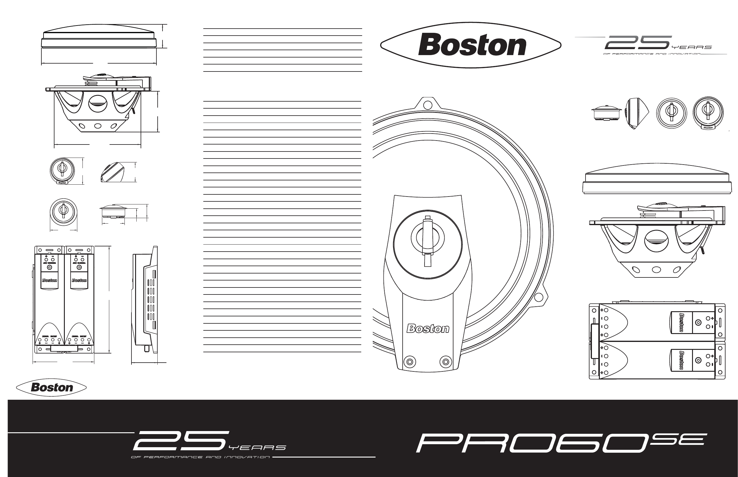 Boston Acoustics Car Speaker PRO60SE User Guide