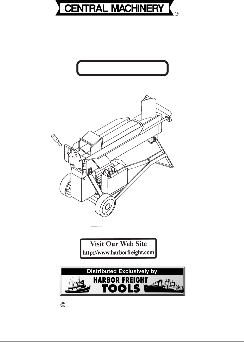 Harbor Freight Tools Log Splitter 40318 User Guide