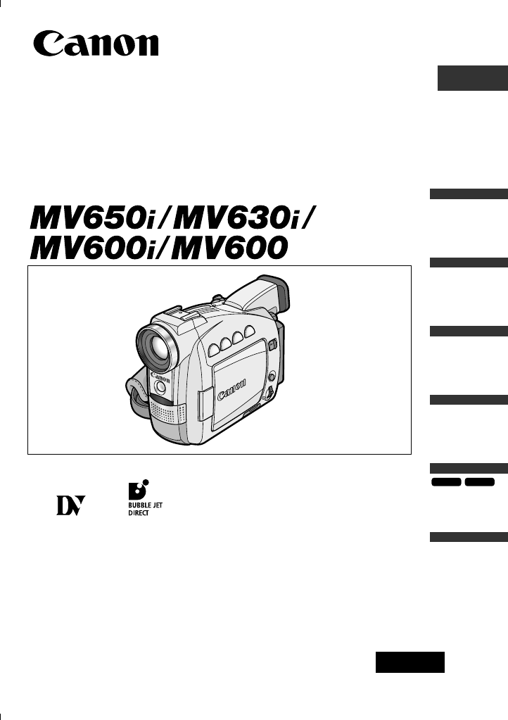 CANON MV600I MANUAL PDF
