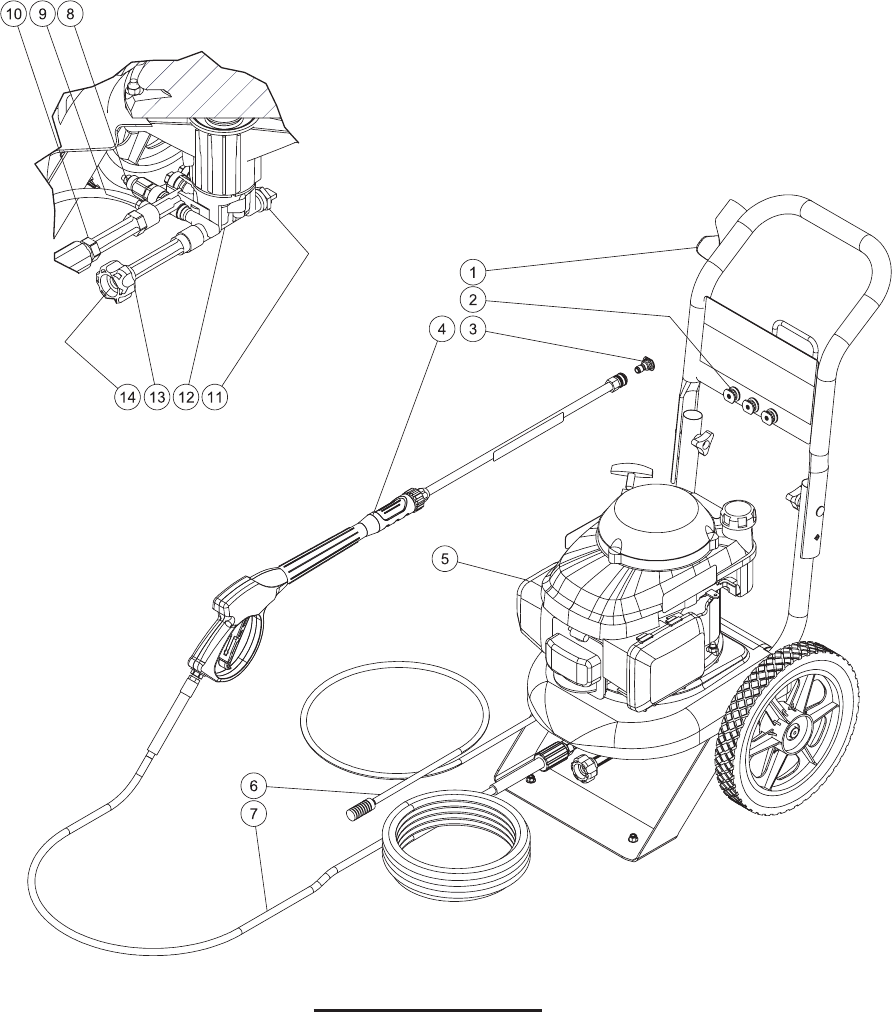Page 8 of John Deere Pressure Washer HR-2410GH User Guide