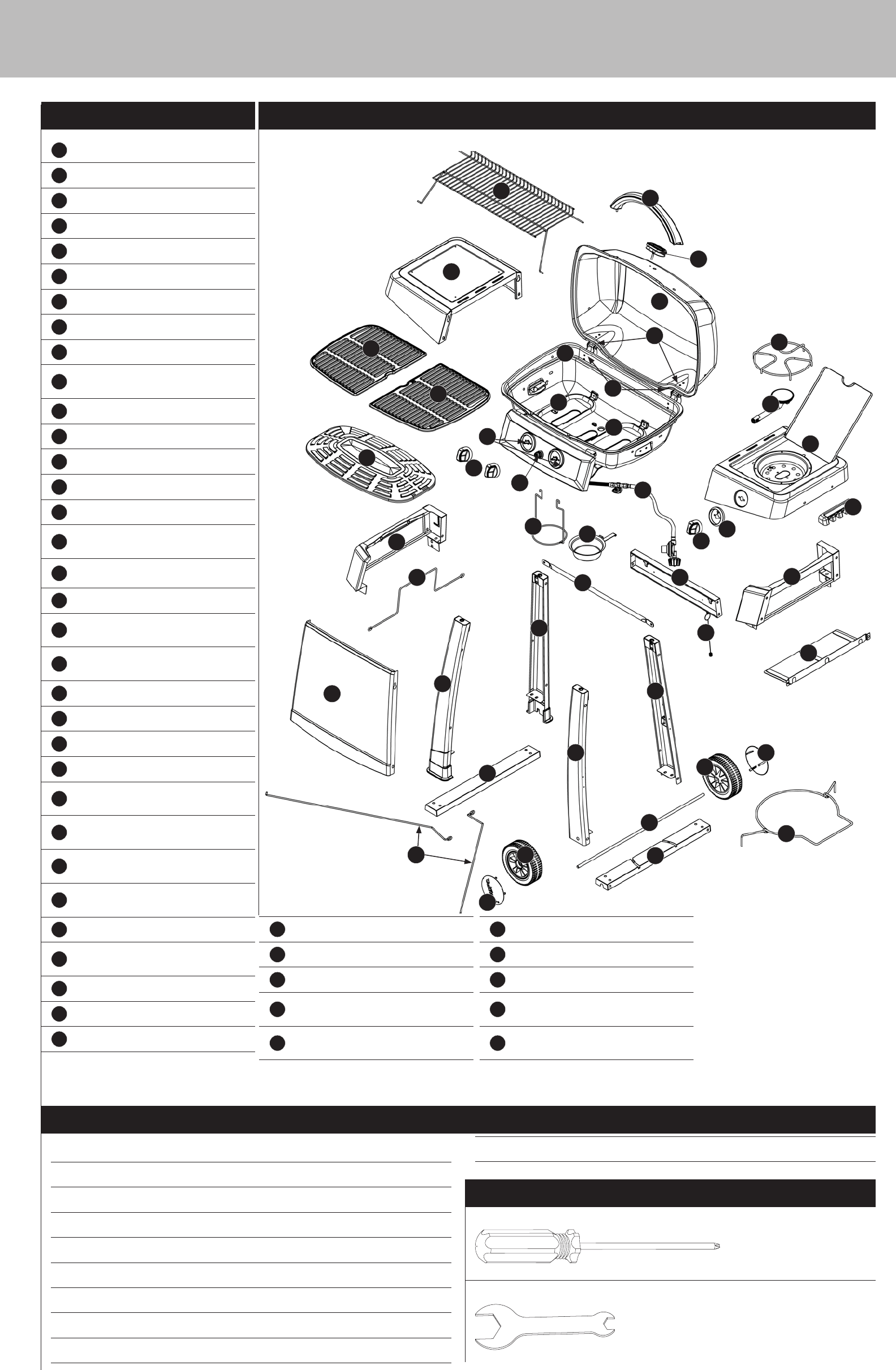 Page 3 of Uniflame Gas Grill GBC1128W User Guide