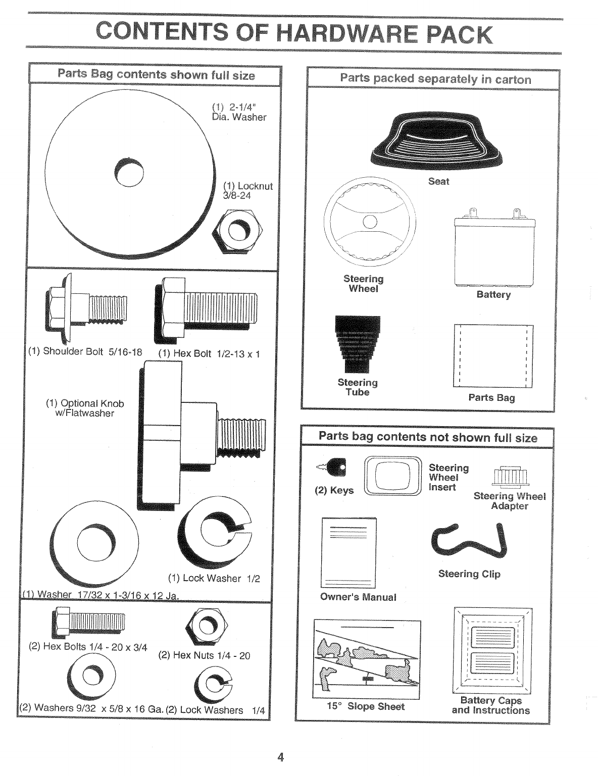 Page 4 of Weed Eater Lawn Mower 138698 User Guide