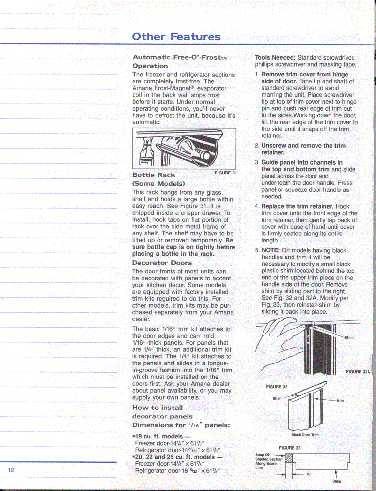 Page 12 of Amana Refrigerator Side-By-Side Refridgerator