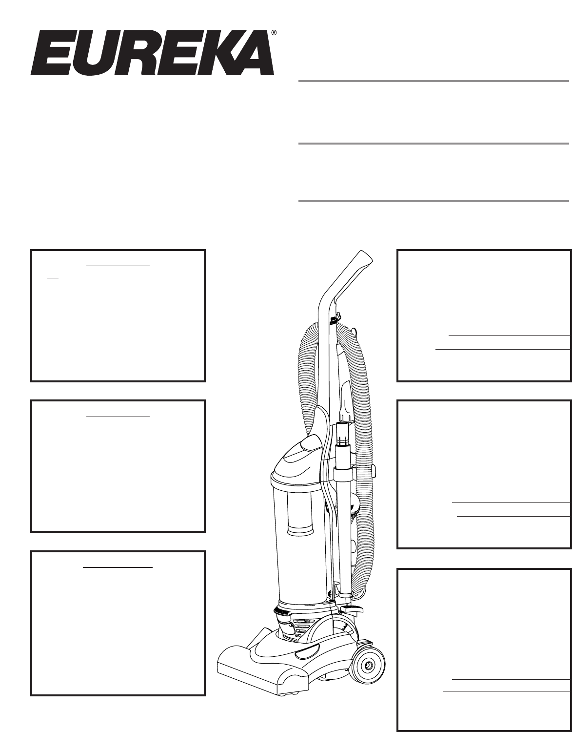 Eureka Vacuum Cleaner 4700 Series User Guide