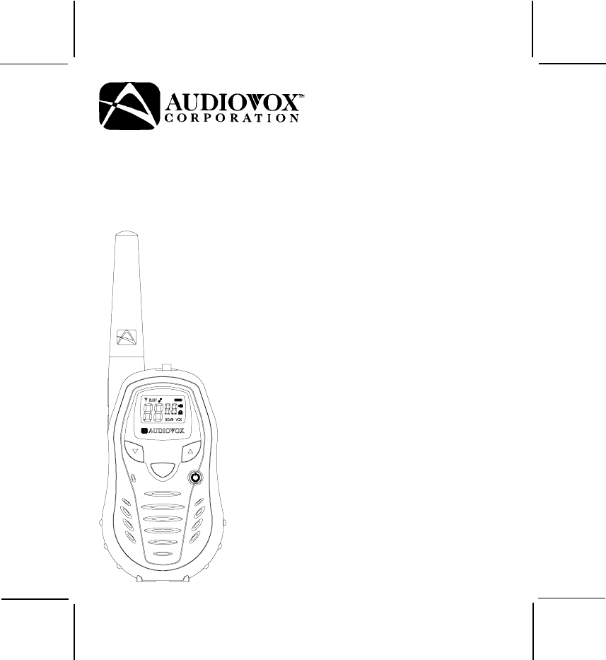 Audiovox Two-Way Radio GMRS862CH User Guide