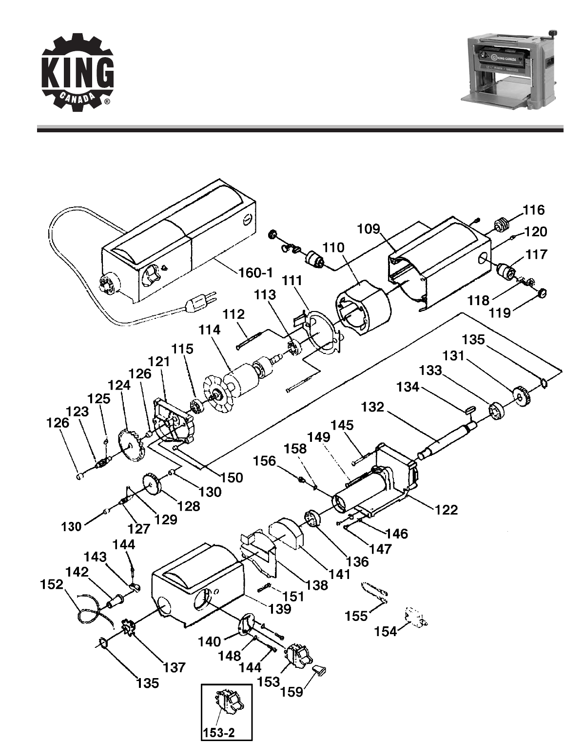 Page 3 of King Canada Planer KC-425C User Guide