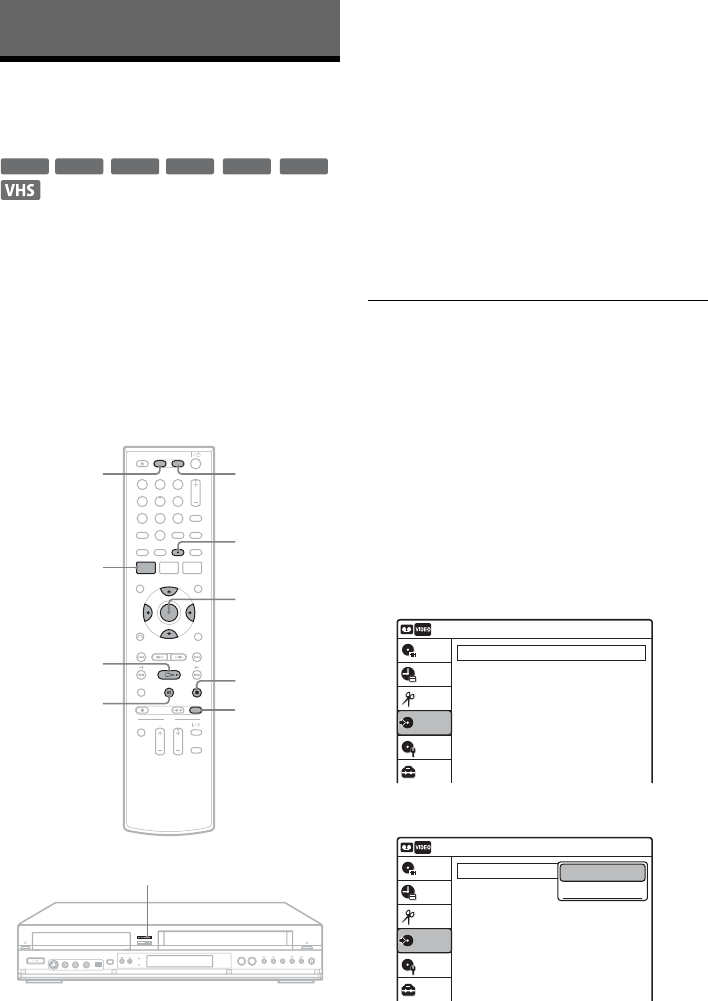 Page 84 of Sony DVD VCR Combo RDR-VX555 User Guide