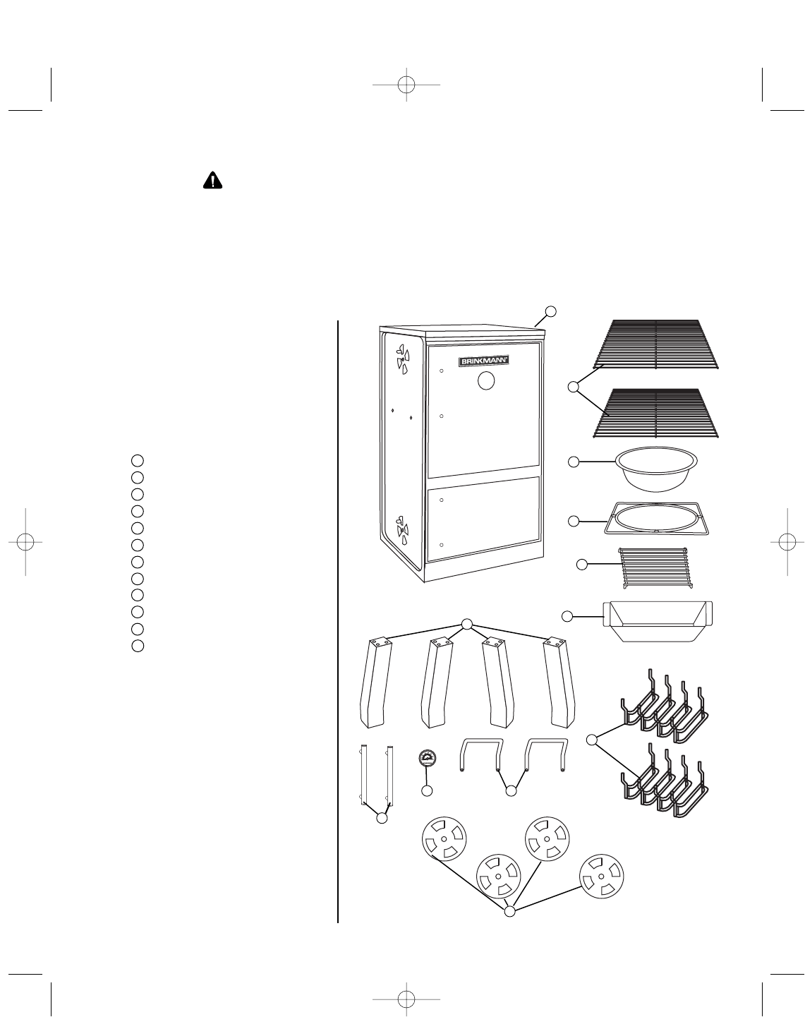 Page 4 of Brinkmann Smoker 810-5503-S User Guide