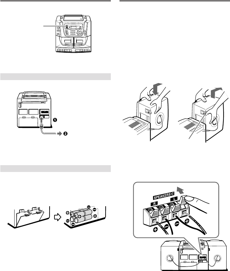 Page 4 of Aiwa Stereo System CA-DW538 User Guide