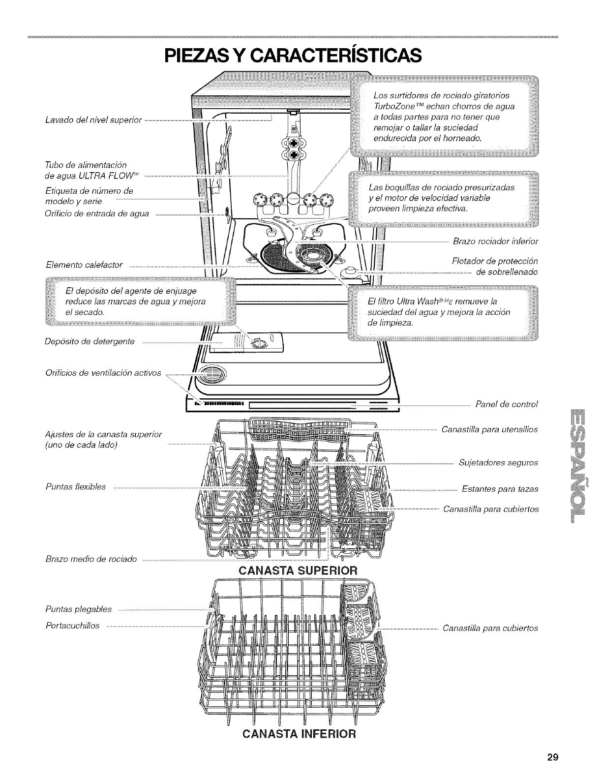 Page 29 of Kenmore Dishwasher 665.13169K702 User Guide
