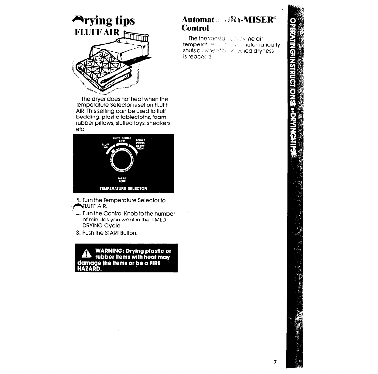 Page 7 of Whirlpool Clothes Dryer LE5200XT User Guide
