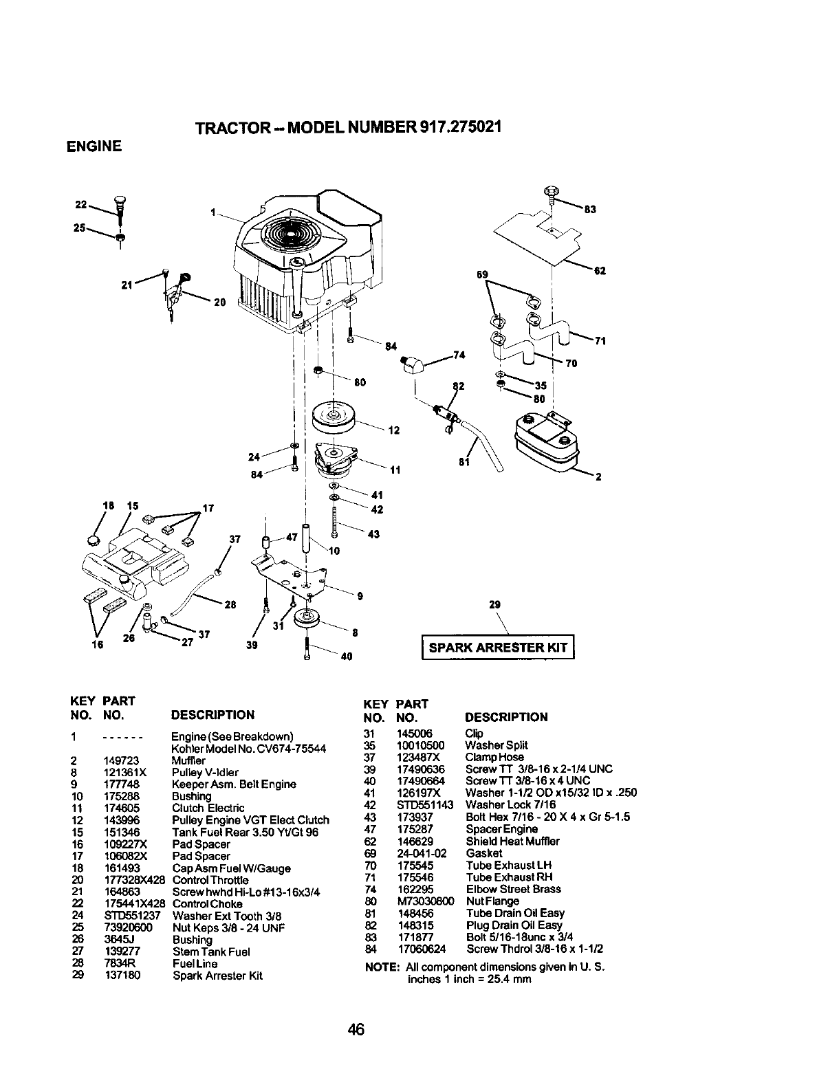 Page 46 of Craftsman Lawn Mower 917.275021 User Guide