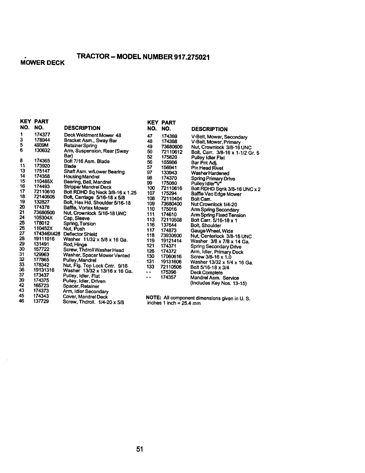 Page 51 of Craftsman Lawn Mower 917.275021 User Guide