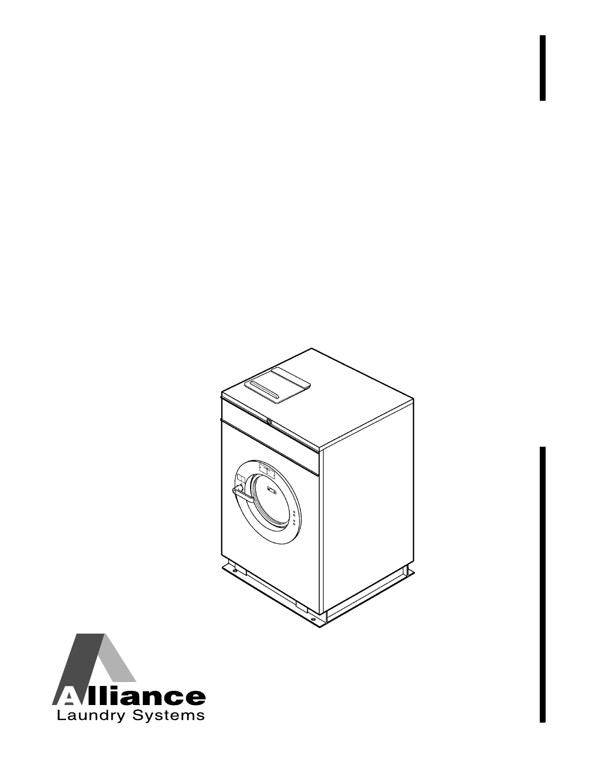 Alliance Laundry Systems Washer HC27 User Guide