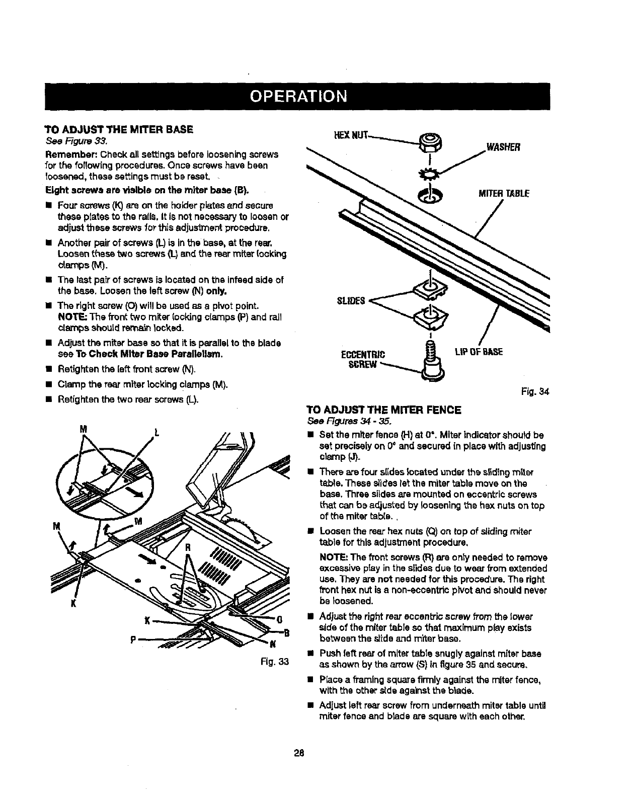Page 28 of Craftsman Saw 315.21829 User Guide