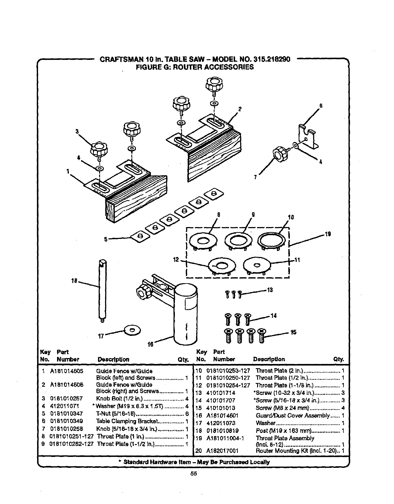 Page 55 of Craftsman Saw 315.21829 User Guide