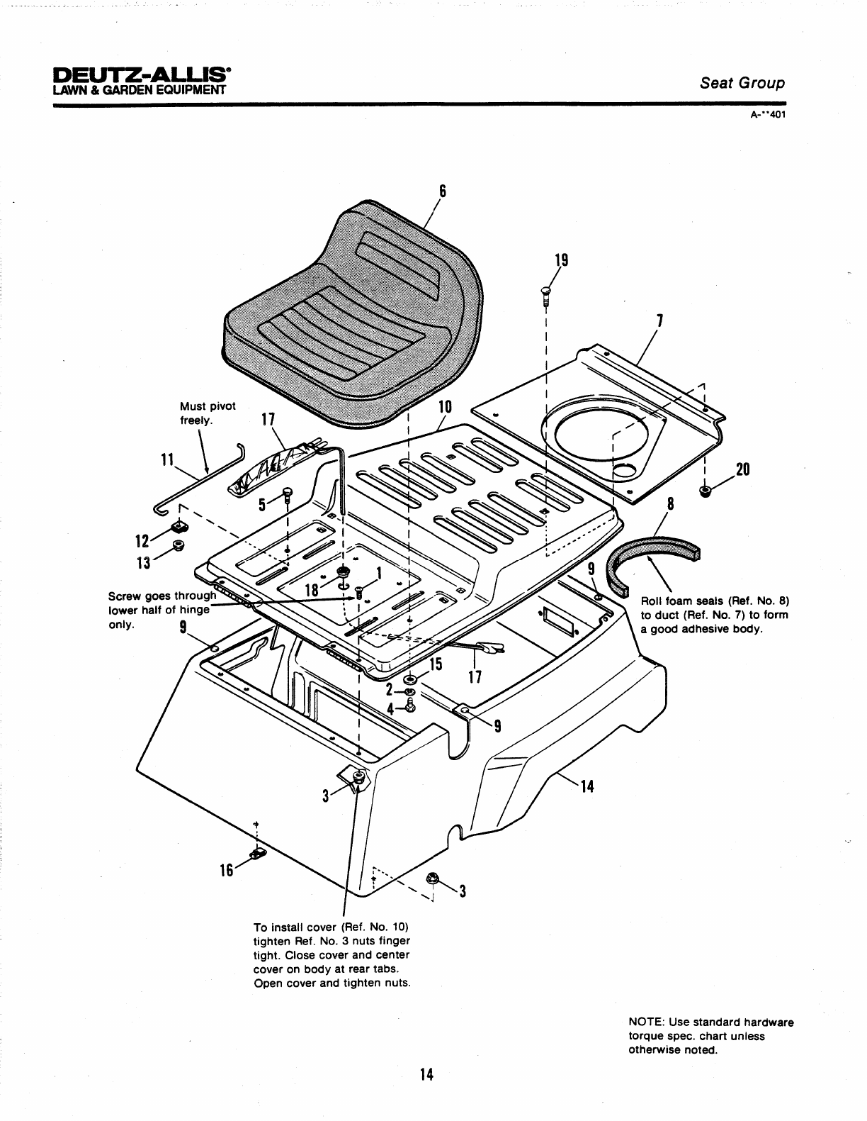 Page 20 of Simplicity Lawn Mower 100 Series User Guide