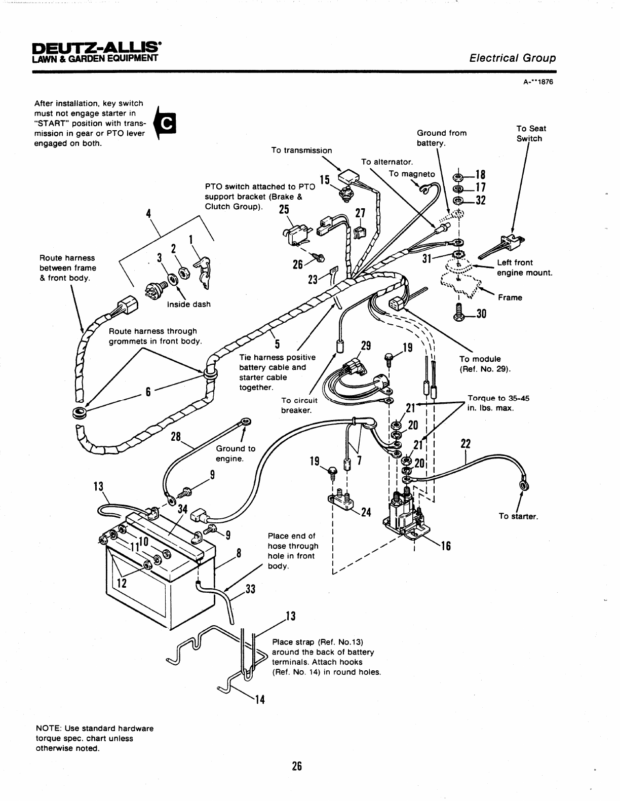 Page 32 of Simplicity Lawn Mower 100 Series User Guide