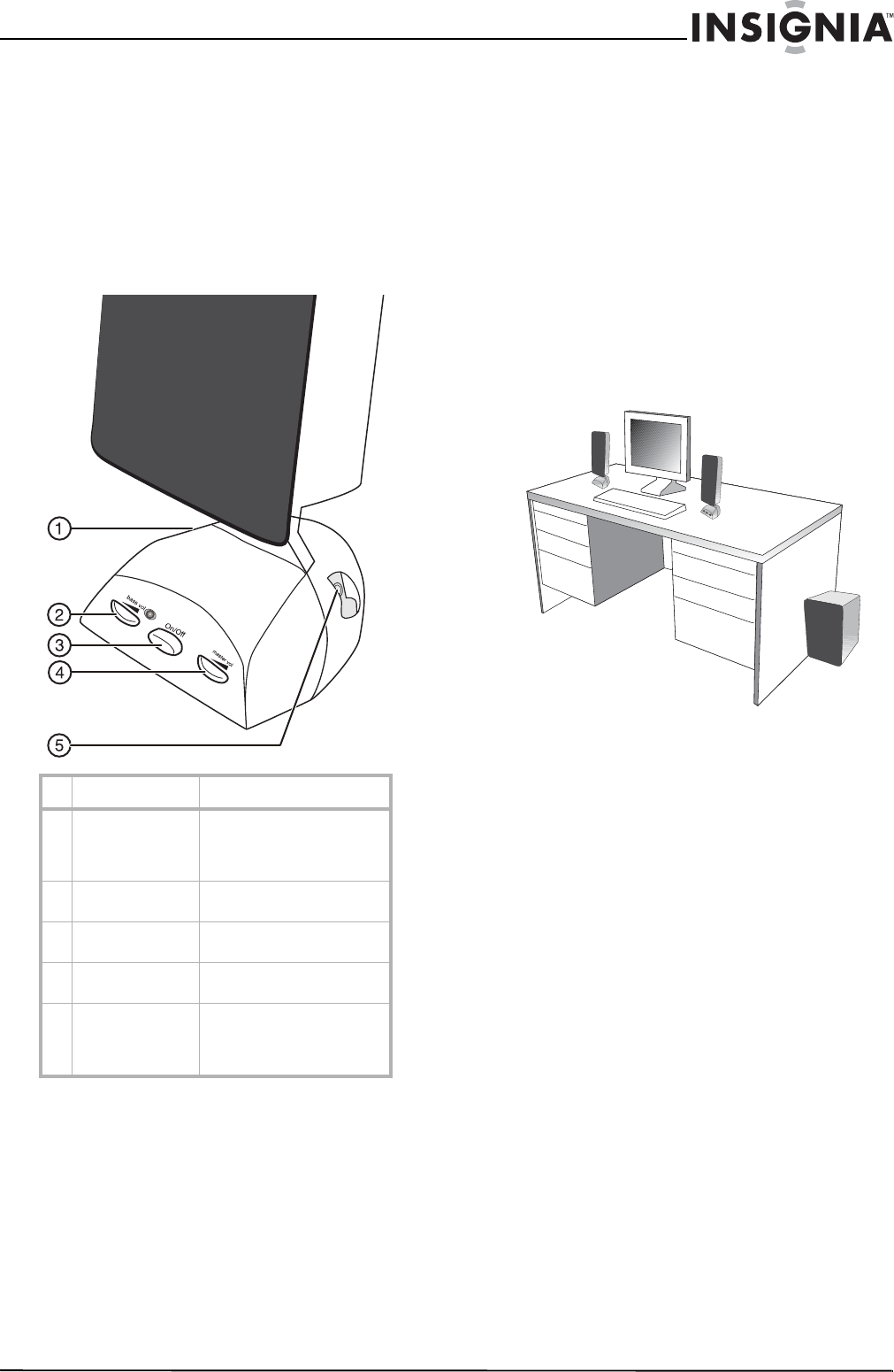 Page 5 of Insignia Speaker NS-3698 User Guide