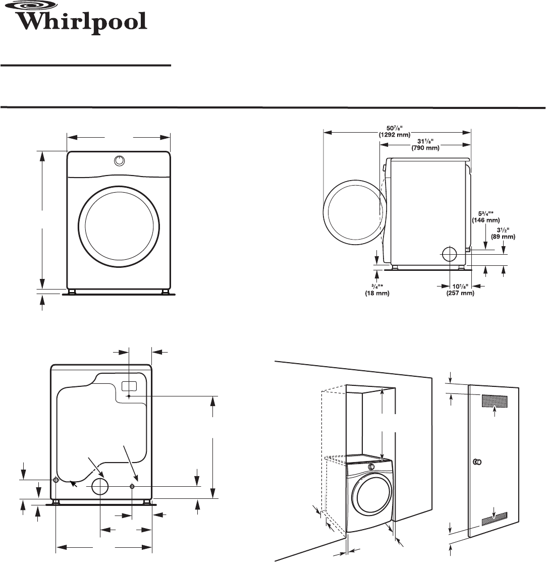 Whirlpool Clothes Dryer WGD97HEX User Guide